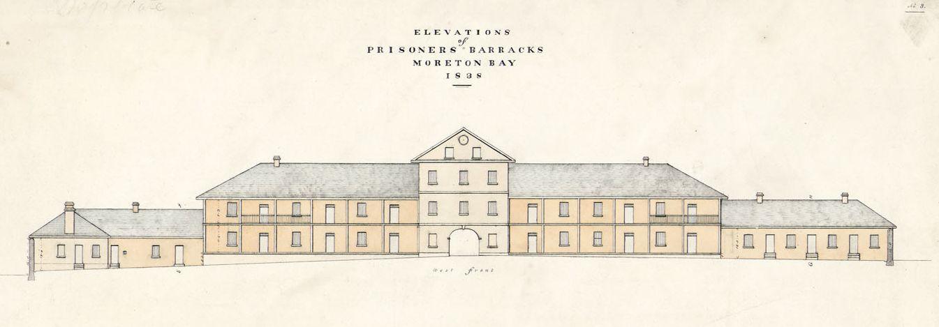 Ground plan of Prisoners' Barracks, Moreton Bay, 1838