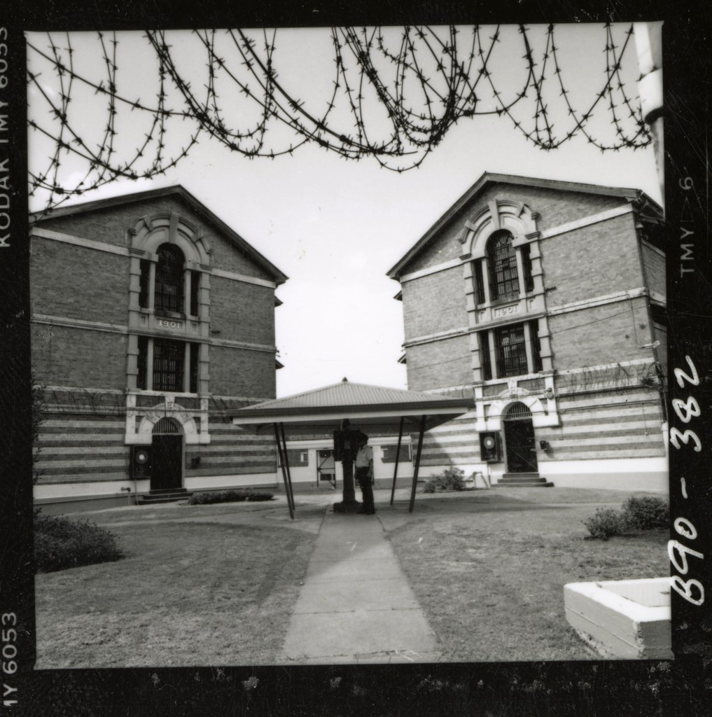 Photograph of the cell blocks E and F, established in 1901 at Boggo Road Gaol